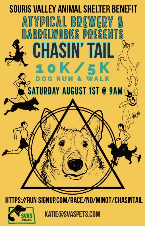 chasin-tail-dog-run-walk-poster